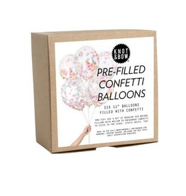 Knot and Bow Confetti Balloons Assorted