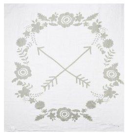 Ever Ellis Ellis - Gray Flower Blanket