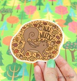 Turtle's soup Aww Nuts! Sticker