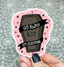 Turtle's soup Turtle: Go Away Coffin Sticker