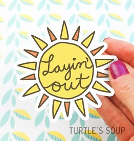 Turtle's soup Turtle: Layin' Out Sticker