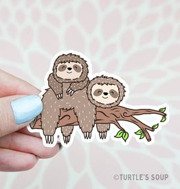 Turtle's soup Turtle: Lazy Sloths Sticker