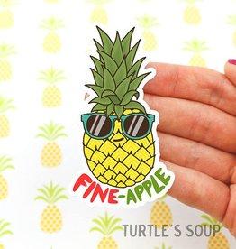 Turtle's soup Pineapple Sticker