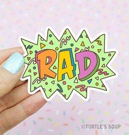 Turtle's soup Rad 90's Sticker