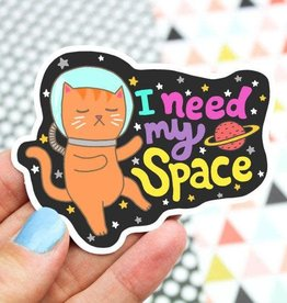 Turtle's soup Turtle: Space Cat Sticker