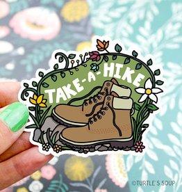 Turtle's soup Turtle: Take A Hike Sticker