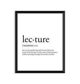 Footnotes Studio Art Print - Lecture