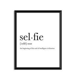 Footnotes Studio Art Print - Selfie