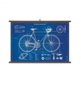 Cavallini Papers Bicycle Blueprint School Chart