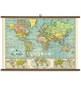 Cavallini Papers World Map School Chart
