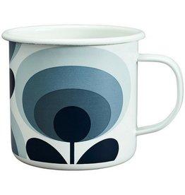 Orla Kiely Enamel Mug - Slate