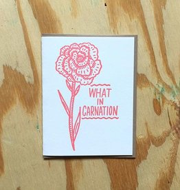 Bench Pressed Carnation