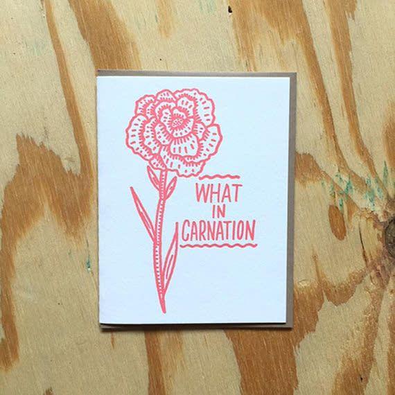 Bench Pressed Carnation