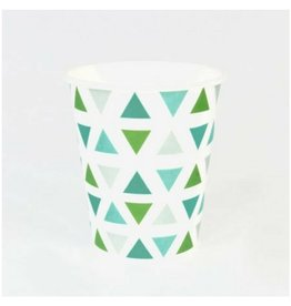My Little Day Green Triangle  Cups