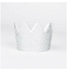 My Little Day Silver Glitter Crowns