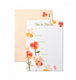 Mara Mi Floral Party Invitations