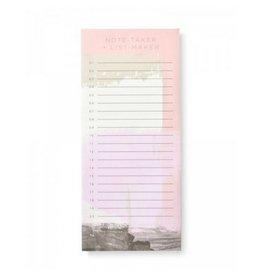 Mara Mi Blush Notetaker List Pad