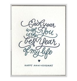 Ink Meets Paper Each Year With You Card