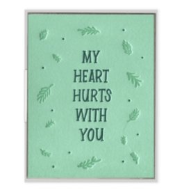 Ink Meets Paper Heart Hurts With You Card
