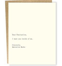 Sapling Press Dear Blank: Punctuation/Quotation