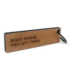 Sapling Press Key Tag: Left Them