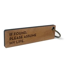 Sapling Press Key Tag: Assume Life
