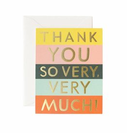 Rifle Paper Color Block Thank You, Boxed