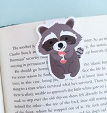 Crafted Van Racoon With Apple Jumbo Magnetic Bookmark