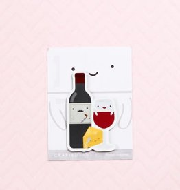 Crafted Van Wine and Cheese Fridge Magnet