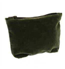 HomArt Velvet Pouch, Sage Green