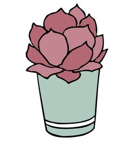 Typo Typo Succulent Sticker Green Pot