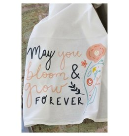 Doe A Deer May You Bloom and Grow Forever Towel
