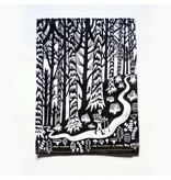 Forest and Waves Enchantment Trail Tea Towel