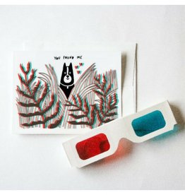 Forest and Waves You Found Me 3D Card