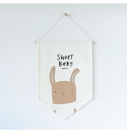 In the Daylight Sweet Baby Rabbit Wall Flag