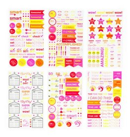 Blot Sticker Set, Pink/Orange