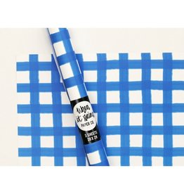 When It Rains Gingham Gift Wrap