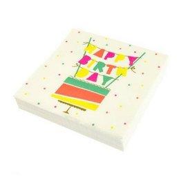 Graphique Cake Flags Napkins