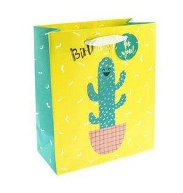 Graphique Bday Hug Cactus Gift Bag, Med