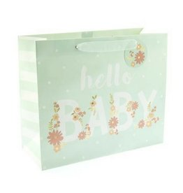 Graphique Hello Baby Blue Gift Bag, Lg