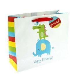 Graphique Animal Stack Gift Bag, Med