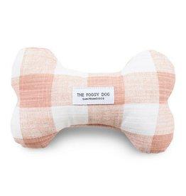 The Foggy Dog Blush Gingham Dog Toy