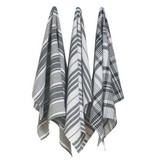 Now Designs Pure Kitchen Black Tea Towels
