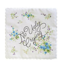 Boldfaced No Ugly Crying Handerkerchief