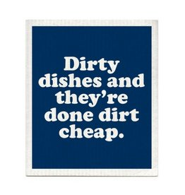 Boldfaced Dirty Dishes Dishcloth