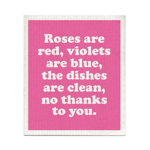 roses are red dishcloth typo market