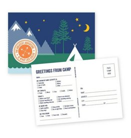 Page Stationery Camp Postcard Book