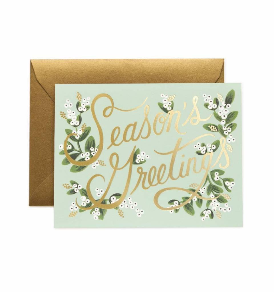 Rifle Paper Mistletoe Seasons Card