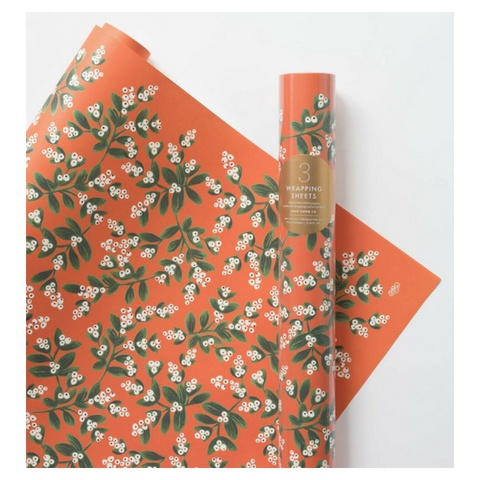 Rifle Paper Mistletoe Wrap, Roll