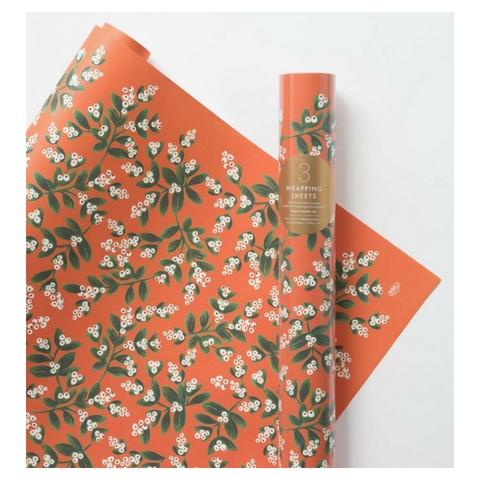 Rifle Paper Mistletoe Wrap, Roll